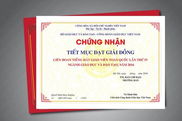 In giấy khen, in chứng chỉ lấy ngay tại Hà Nội